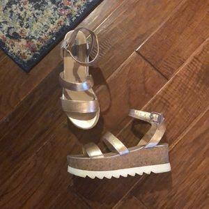 Steve Madden Rose Gold Platform Sandals